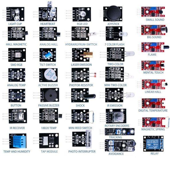 Kit Com 37 Módulos Sensores Para Arduino